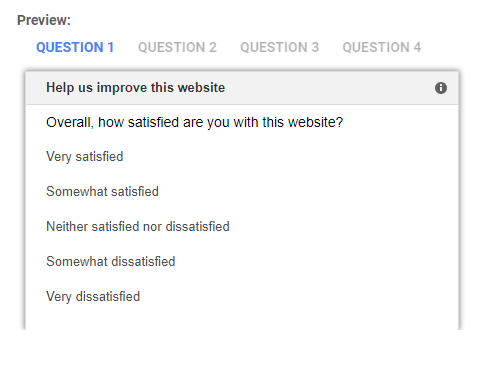 Google Surveys - Standard WebSat