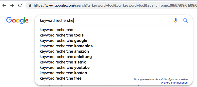 Google Suggest Content Marketing